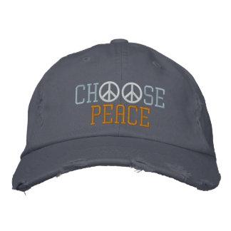 Choose Peace Embroidered Baseball Cap