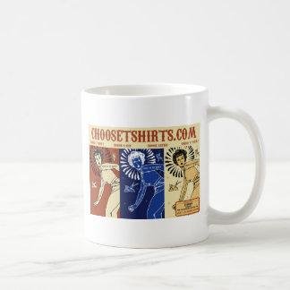 Choose t-shirts promotional banner design mugs