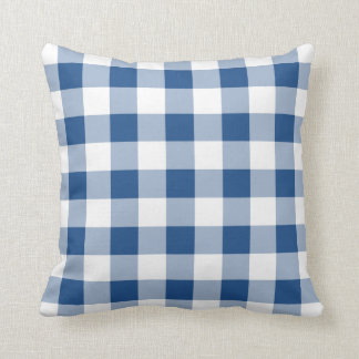 Choose The Colour - Gingham Style Throw Pillow 1