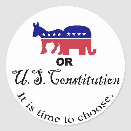 Choose the Constitution Sticker