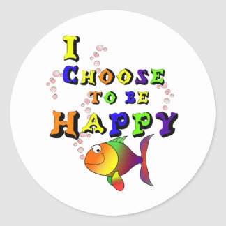 Choose To Be Happy Classic Round Sticker