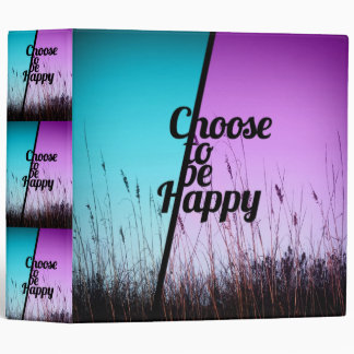 """""""Choose to be Happy"""" Typography in Teal & Purple Binder"""