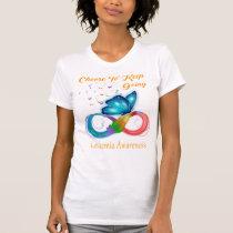 Choose To Keep Going LEUKEMIA Awareness T-Shirt