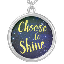 Choose to Shine Stars Cosmos Silver Plated Necklace