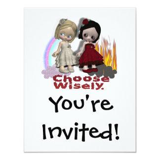 Choose Wisely Angel Devil Girls Card