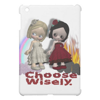 Choose Wisely Angel Devil Girls iPad Mini Cover