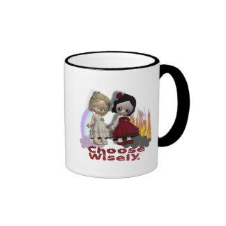 Choose Wisely Angel Devil Girls Coffee Mug