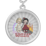 Choose Wisely Angel Devil Girls Necklace