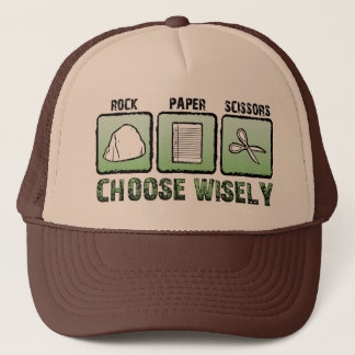 """Choose Wisely"" Rock-Paper-Scissors Trucker Hat"