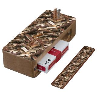 Choose wood type wood cribbage board