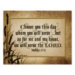Choose You This Day (Joshua 24:15) Poster