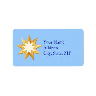 Choose Your Background Color Baha'i Symbol Label