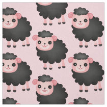 Choose your background color black sheep fabric