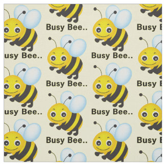Choose your background color busy bee fabric