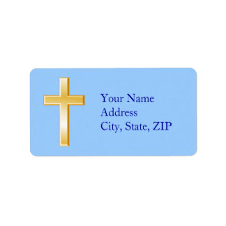Choose Your Background Color Christian Cross Label