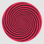 Choose Your Background Color Hypnosis Spiral Classic Round Sticker