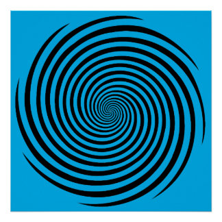 Choose Your Background Color Hypnosis Spiral Poster