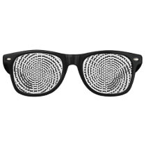 Choose Your Background Color Hypnosis Spiral Retro Sunglasses