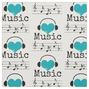 Musical Notes Fabric Zazzle