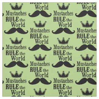 Choose your background color mustache Fabric