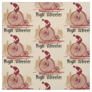 Choose your background vintage bicycle Fabric