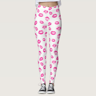 Choose your bg color Sexy lips pattern legging