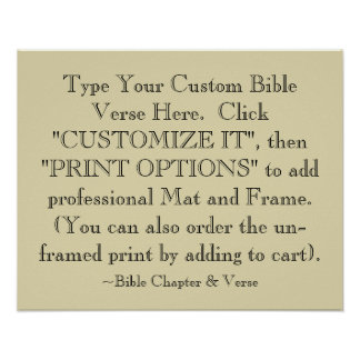 Choose Your Bible Verse Art Print Optional Framed Poster