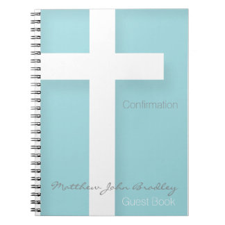 Choose your color 2 Modern Confirmation Guest Book
