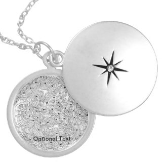 Choose your Color Abstract Ant Farm Locket Necklace