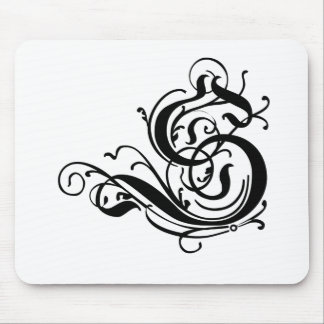 Choose your color Background Monogrammed letter S Mouse Pad