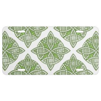 Choose Your Color Celtic Knot Decorative Pattern License Plate