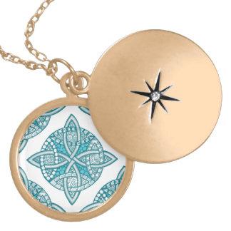 Choose Your Color Celtic Knot Decorative Pattern Locket Necklace