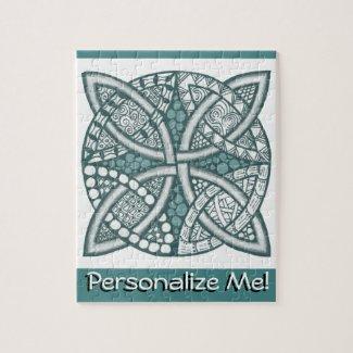 Choose Your Color Celtic Knot Decorative Pattern Jigsaw Puzzles