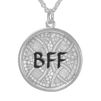 Choose Your Color Celtic Knot Decorative Pattern Round Pendant Necklace