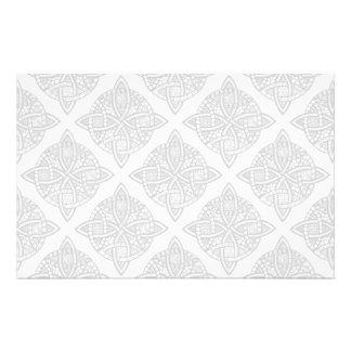 Choose Your Color Celtic Knot Decorative Pattern Stationery