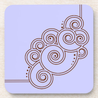Choose Your Color Charming Swirls Coaster Set