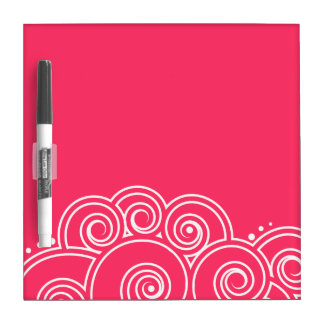 Choose Your Color Charming Swirls Dry Erase Board
