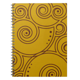 Choose Your Color Charming Swirls Notebook