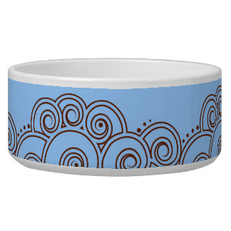 Choose Your Color Charming Swirls Pet Bowl
