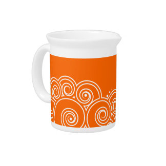 Choose Your Color Charming Swirls Pitcher