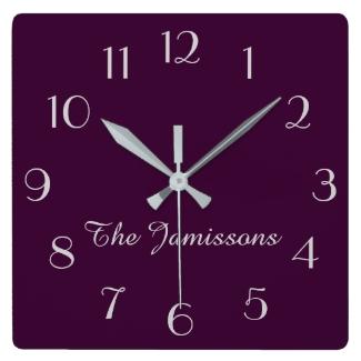 CHOOSE YOUR COLOR, Clock, Purple Default