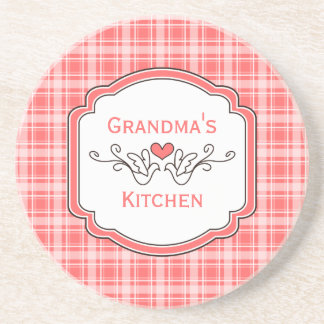 Choose Your Color Cozy Plaid Grandma's Coaster