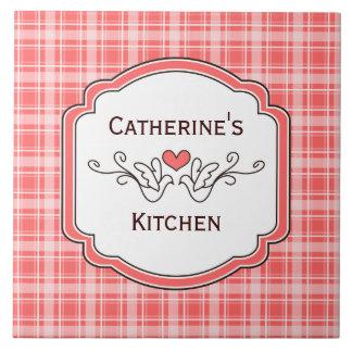 Choose Your Color Cozy Plaid Kitchen Tile