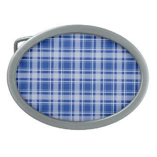 Choose Your Color Cozy Plaid Oval Belt Buckle