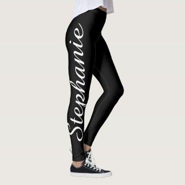 SocolikCardShop CHOOSE YOUR COLOR Custom Yoga Leggings with Name