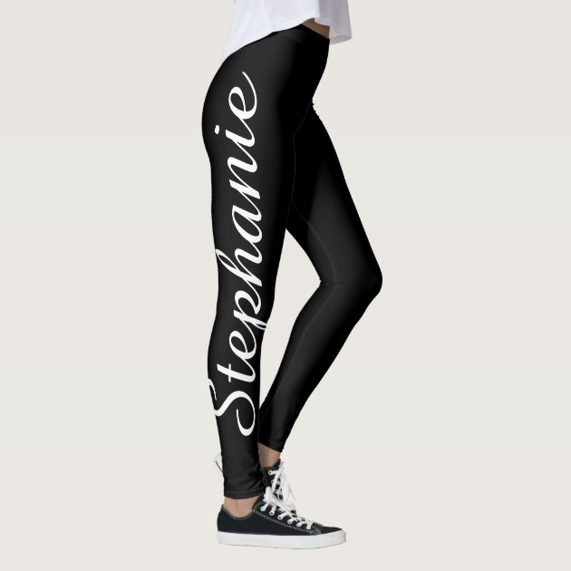 Choose Your Color Custom Yoga Leggings With Name Zazzle Com