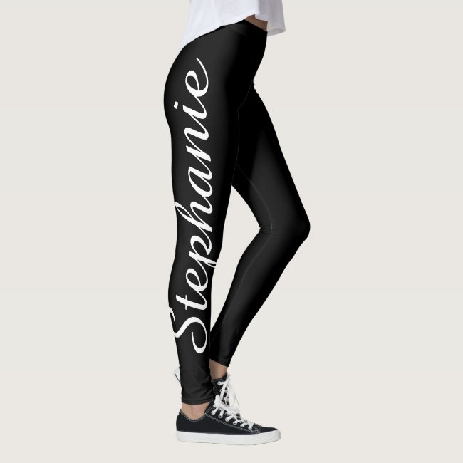CHOOSE YOUR COLOR Custom Yoga Leggings with Name