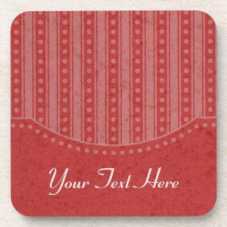 Choose Your Color Dainty Stripes Coasters Set