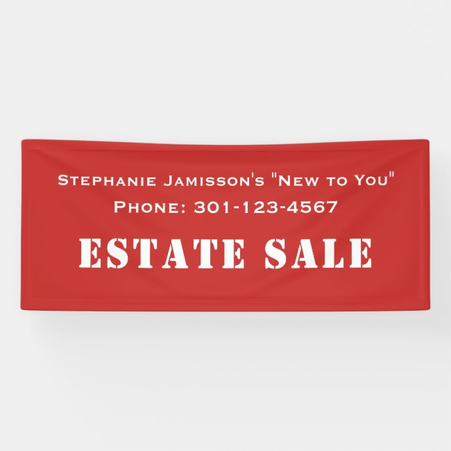 CHOOSE YOUR COLOR Estate Sale Company Jumbo Banner