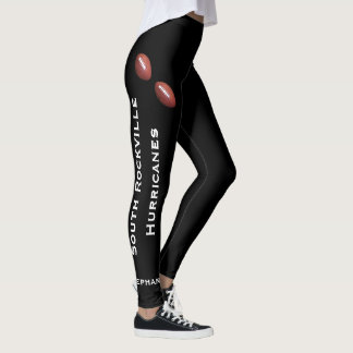 CHOOSE YOUR COLOR Football Team Leggings with Name
